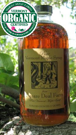 organic maple syrup quart bottle